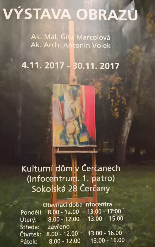 Výstava obrazů - Infocentrum Čerčany 1