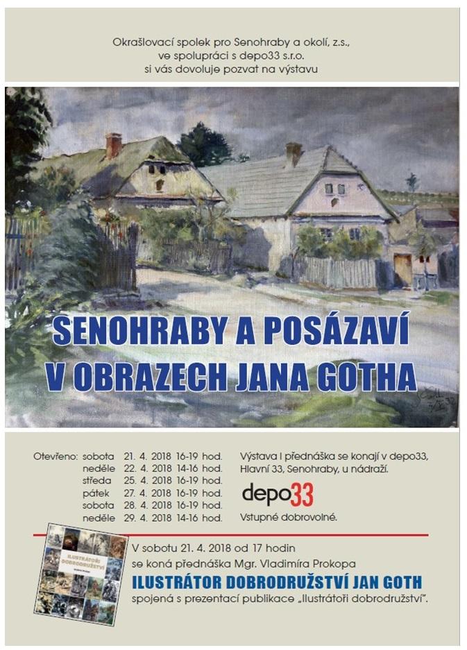 Výstava Senohraby a Posázaví v obrazech Jana Gotha 1