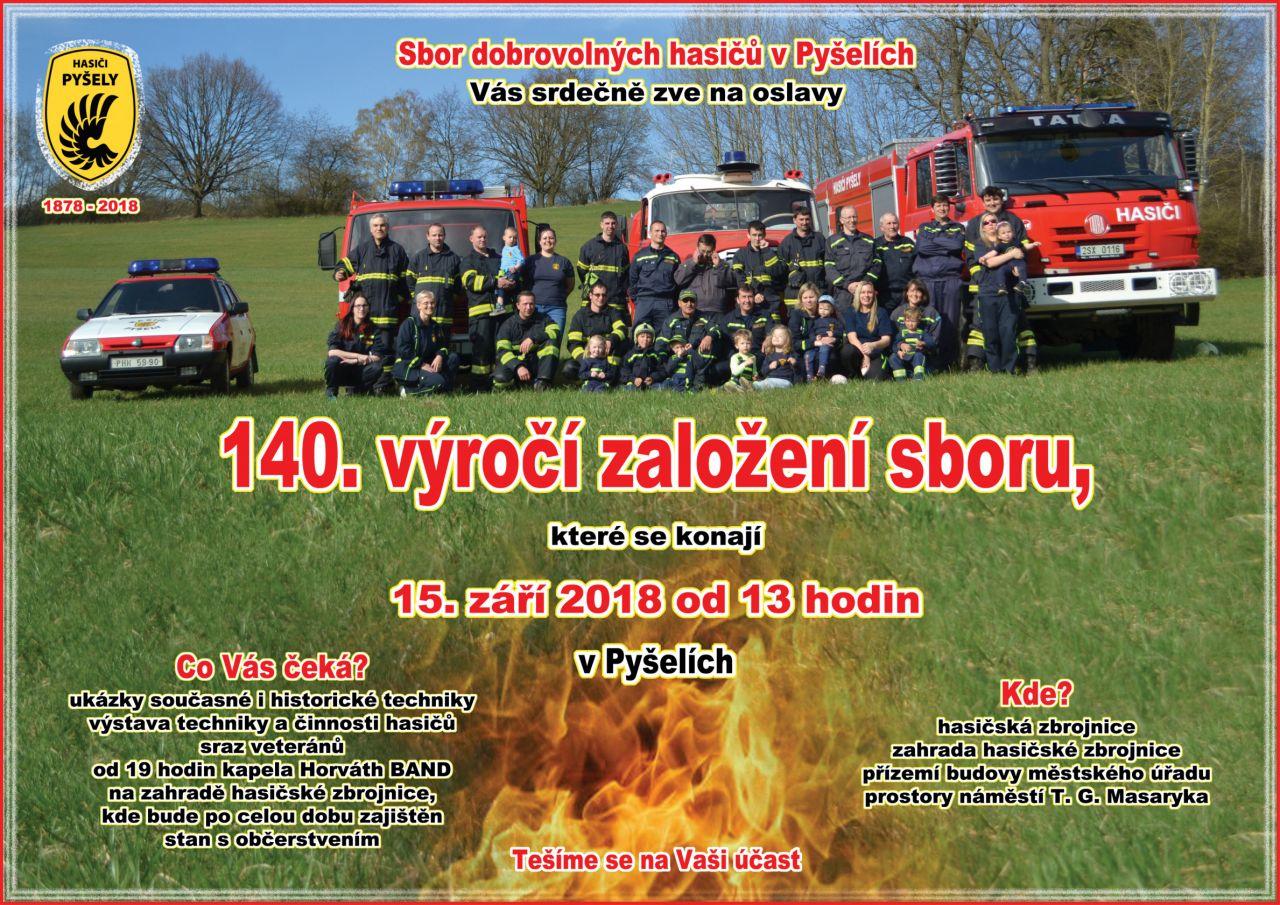 140. výročí založení hasičského sboru v Pyšelích a setkání historických vozidel 1