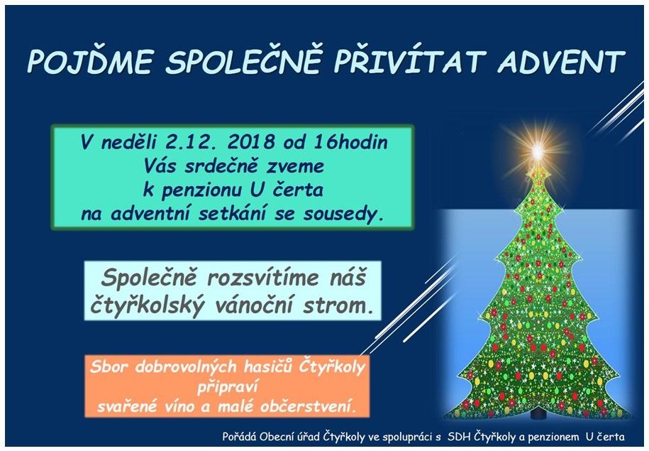 Advent 2018 - rozsvícení vánočního stromku 1