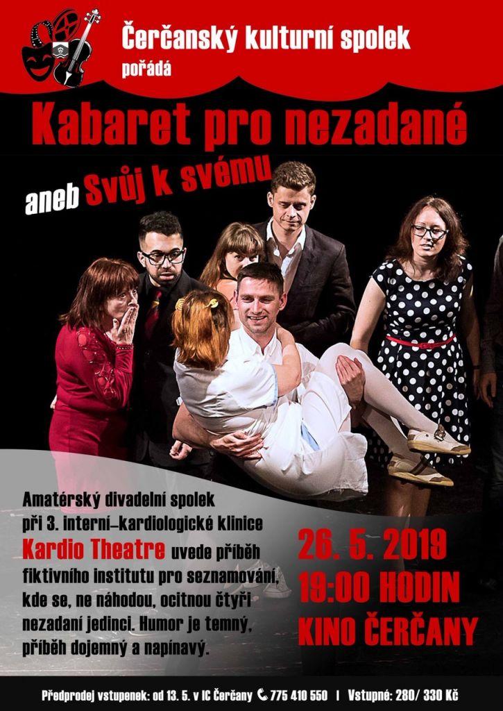 Divadelní představení v Čerčanech - Kabaret pro nezadané 1
