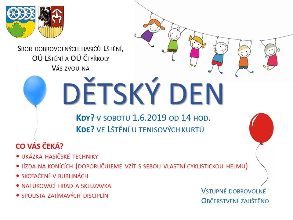 Pozvánka na Dětský den 1