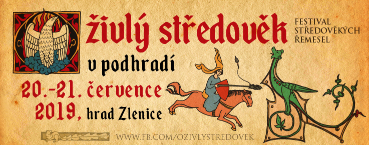 Oživlý středověk v podhradí hradu Zlenice 1