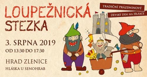 Loupežnická stezka na hradě Zlenice 3.8.2019 1