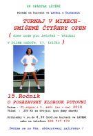 Tenisový turnaj ve smíšených čtyřhrách ve Lštění 1