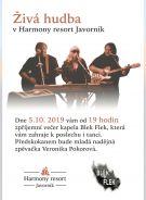 Vystoupení kapely Blek Flek v penzionu Harmony resort Javorník 1
