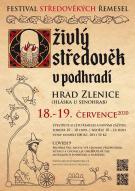 Oživlý středověk v podhradí hradu Zlenice 2