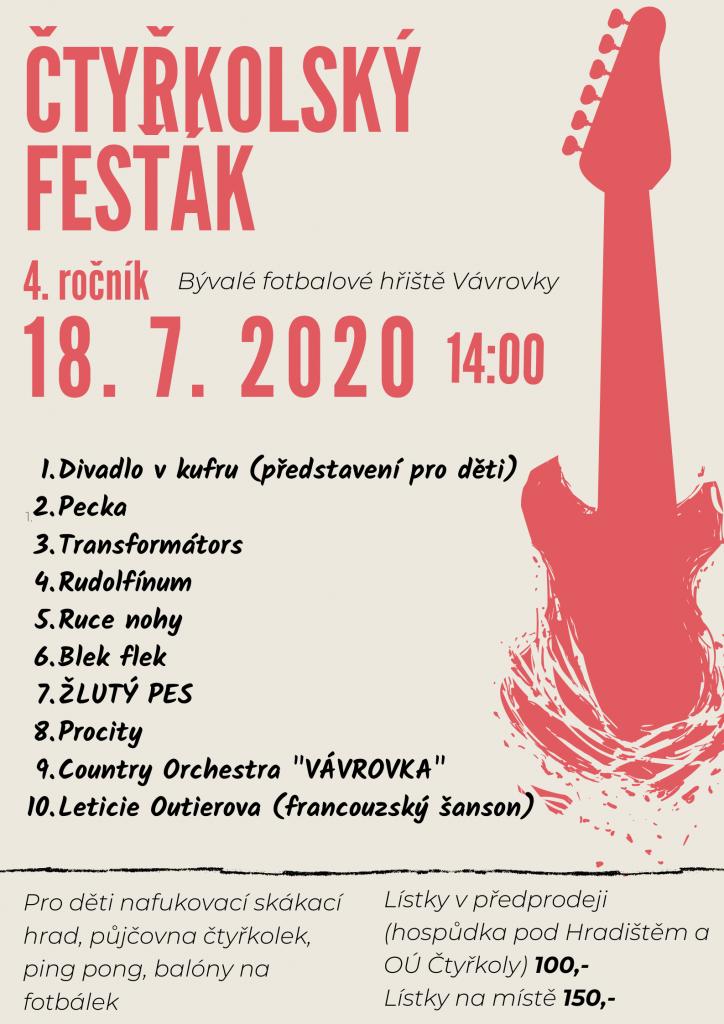 4. ročník Čtyřkolského fesťáku 18.7. 2