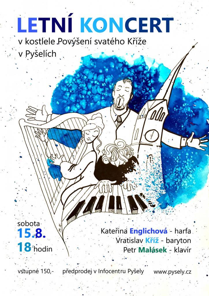 Letní koncert v kostele v Pyšelích 1