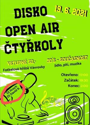 Disko Open Air ve Čtyřkolech 19.6. 1