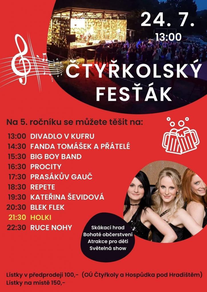 5. ročník Čtyřkolského fesťáku 24.7. 1